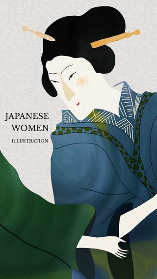JAPANESE WOMEN ILLUSTRATION
