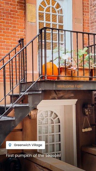 First pumpkin of the season! Welcome Fall!
