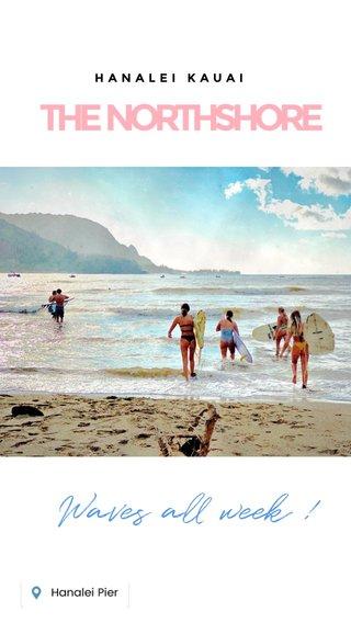 THE NORTHSHORE Waves all week ! HANALEI KAUAI