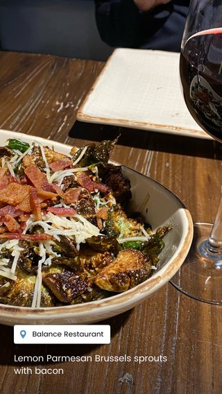 Lemon Parmesan Brussels sprouts with bacon