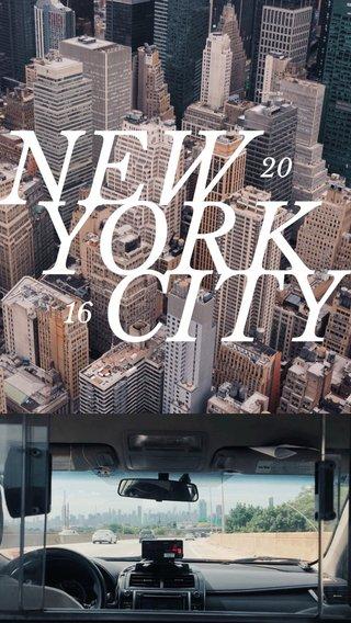 NEW YORK CITY 16 20