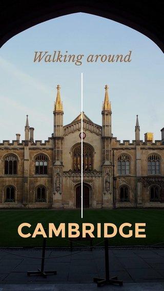 CAMBRIDGE Walking around