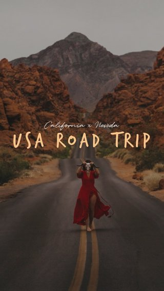 USA road trip California x Neveda