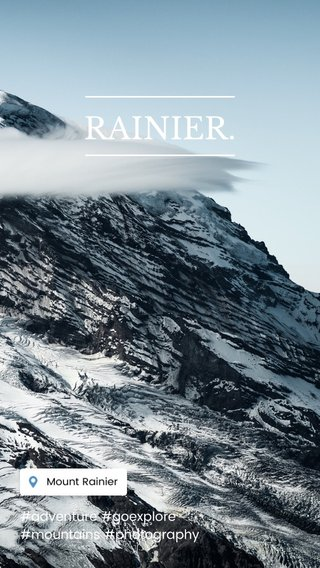 RAINIER. #adventure #goexplore #mountains #photography
