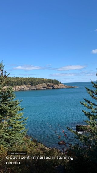 a day spent immersed in stunning acadia...