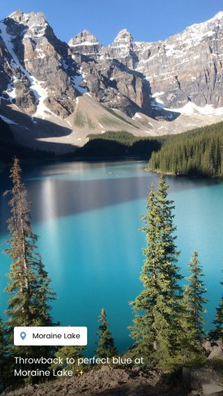 Throwback to perfect blue at Moraine Lake ✨