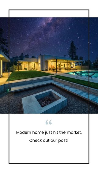 Modern home just hit the market. Check out our post!