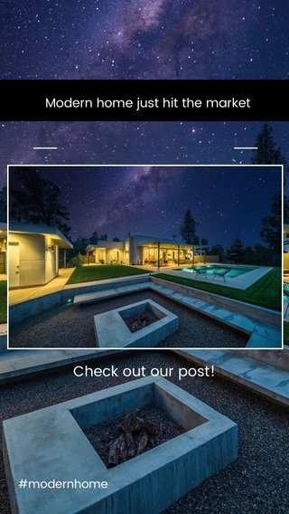 Check out our post! Modern home just hit the market #modernhome