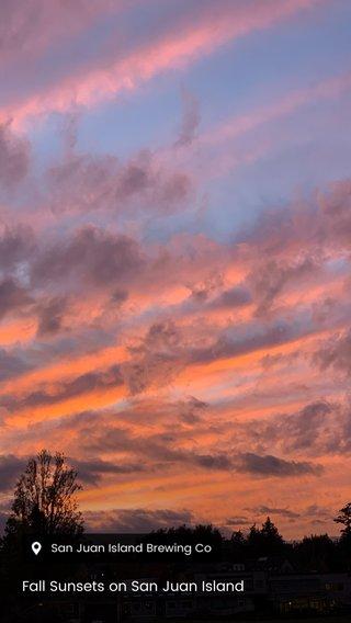 Fall Sunsets on San Juan Island