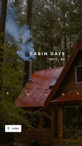 CABIN DAYS Index, WA