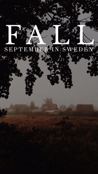 FALL SEPTEMBER IN SWEDEN