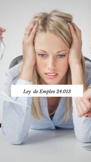 Ley de Empleo 24.013