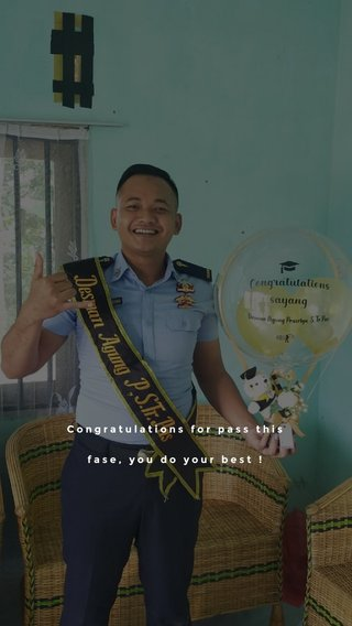 Congratulations for pass this fase, you do your best !