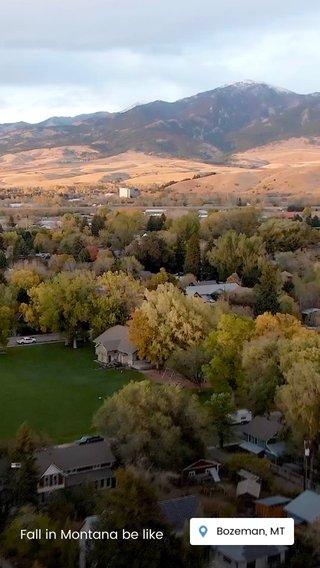 Fall in Montana be like