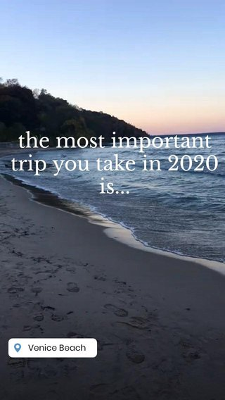 the most important trip you take in 2020 is...