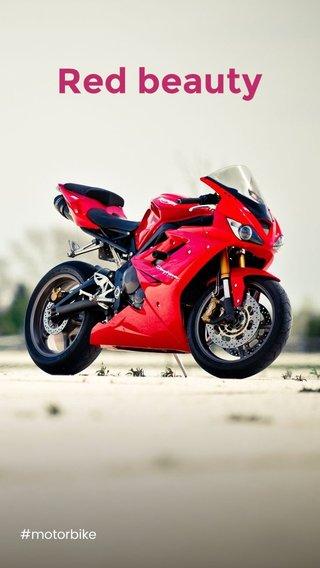 Red beauty #motorbike