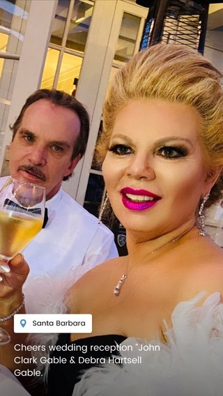 "Cheers wedding reception ""John Clark Gable & Debra Hartsell Gable."