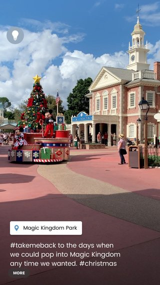 #takemeback to the days when we could pop into Magic Kingdom any time we wanted. #christmas #magical