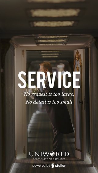 Service No request is too large, No detail is too small