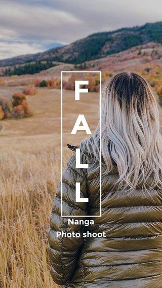 F A L L Nanga Photo shoot