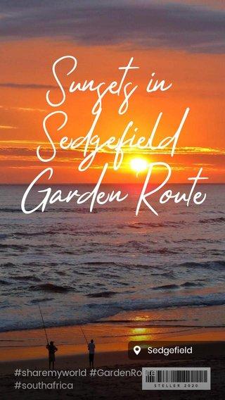 Sunsets in Sedgefield Garden Route #sharemyworld #GardenRoute #southafrica