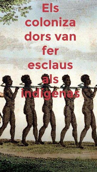 Els colonizadors van fer esclaus als indígenas