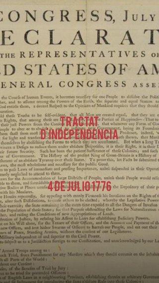 Tractat d'independencia 4 de julio 1776