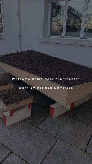 """Welcome home dear """"Earthable"""" Work by Aslıhan Demirtaş"""