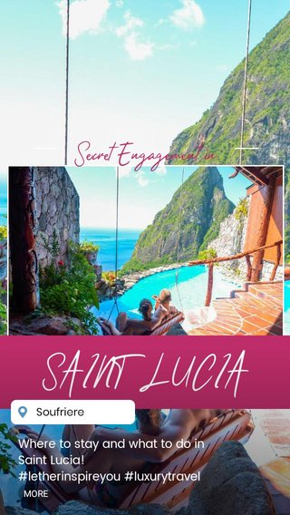 SAINT LUCIA Secret Engagement in Where to stay and what to do in Saint Lucia! #letherinspireyou #luxurytravel #uniquevacations #stlucia #pitons #travelblog #vacationforcouples #romanticvacation #surpriseengagement #laderaresort #caribbean