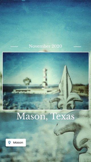 Mason, Texas November 2020