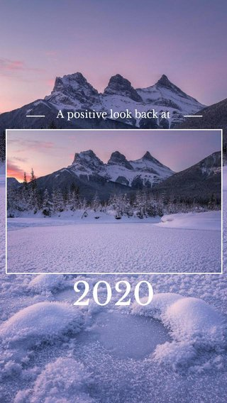 2020 A positive look back at
