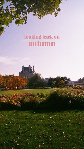 autumn looking back on