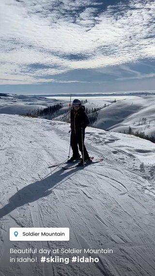 #skiing #idaho Beautiful day at Soldier Mountain in Idaho!