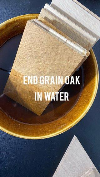 End grain oak in water