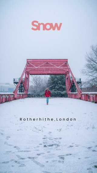 Snow Rotherhithe,London