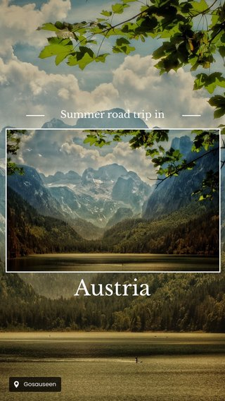 Austria Summer road trip in