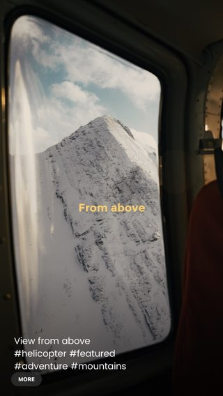 From above View from above #helicopter #featured #adventure #mountains #storyoftheday