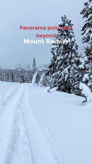 Mount Rainier Panorama point and beyond