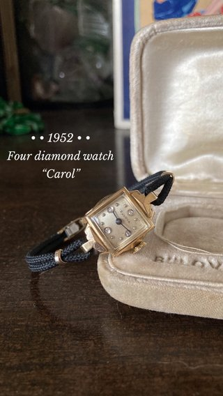 "• • 1952 • • Four diamond watch ""Carol"""