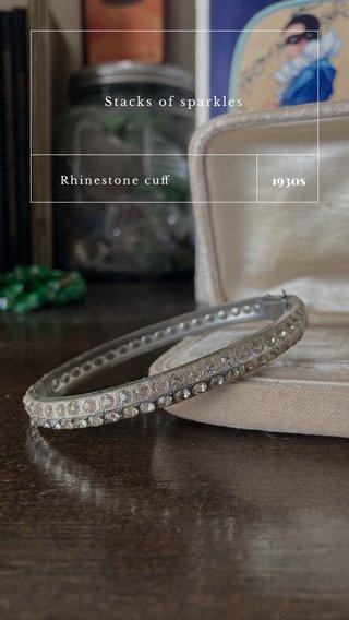 1930s Stacks of sparkles Rhinestone cuff