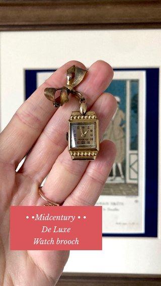 • •Midcentury • • De Luxe Watch brooch