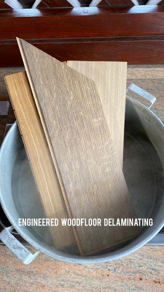Engineered woodfloor delaminating