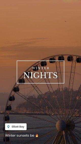 NIGHTS Winter sunsets be 🔥 WINTER