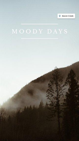 MOODY DAYS