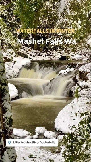 Mashel Falls Wa Waterfalls in winter