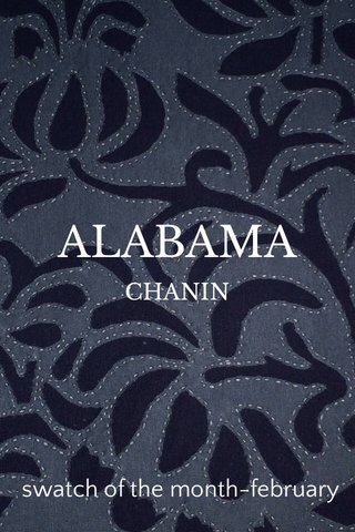 ALABAMA swatch of the month-february CHANIN
