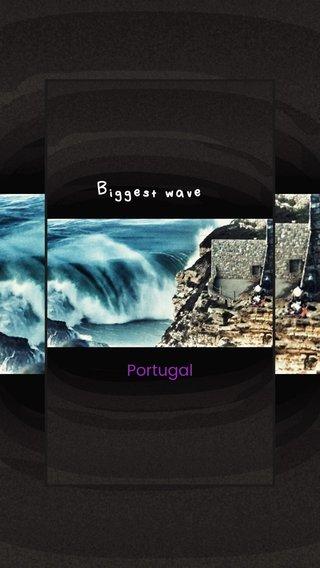 Biggest wave Portugal