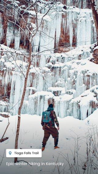 Epic winter hiking in Kentucky