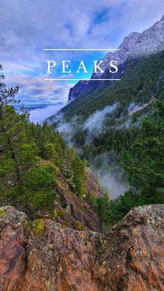PEAKS #pnw #mountains #nature