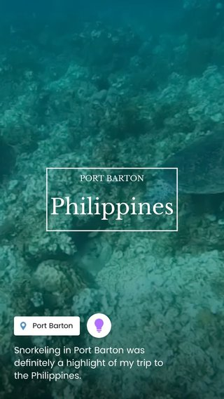 Philippines Snorkeling in Port Barton was definitely a highlight of my trip to the Philippines. PORT BARTON